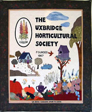 Uxbridge Horticultrual Society - Banner made by Muriel Taylor 2003